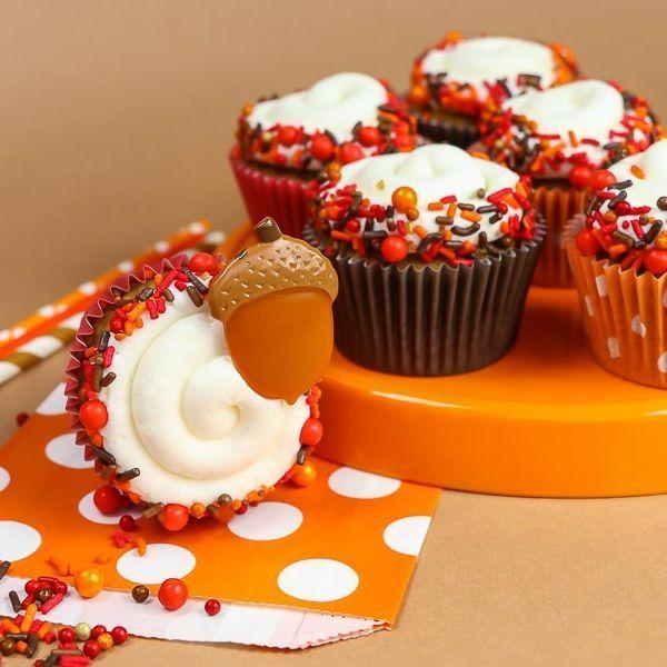 Fall Cupcakes - Totem Pole Sprinkle Mix - Fall Sprinkles