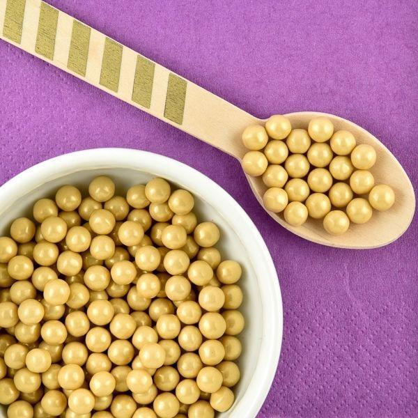 Gold Sugar Pearls - Gold Sprinkles