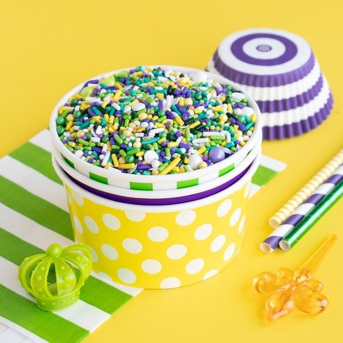 Polka Dot Ice Cream Cups - Dot Paper Party Favor Cups - Dot Treat Cups