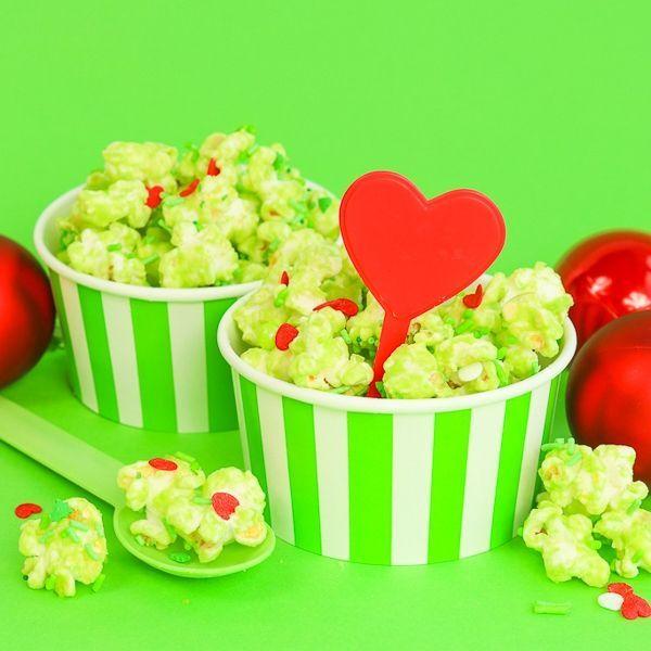 Stripe Ice Cream Cups - Grinch Popcorn