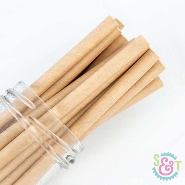 Solid Paper Straws: Kraft