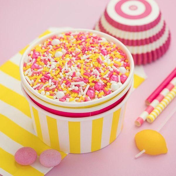 Stripe Ice Cream Cups - Pink Lemonade Party Supplies