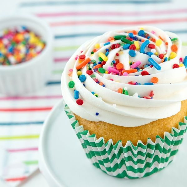 Rainbow Brite Party Cupcakes - Rainbow Bright Sprinkle Mix