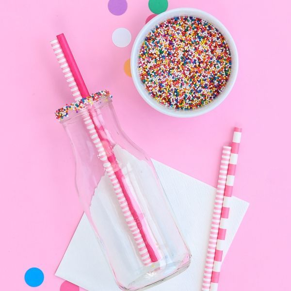 Circus Cookie Party Supplies - Rainbow Nonpareils - Rainbow Party Supplies