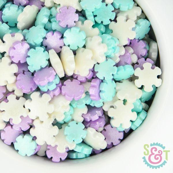 Candy Sprinkles: Pastel Snowflakes