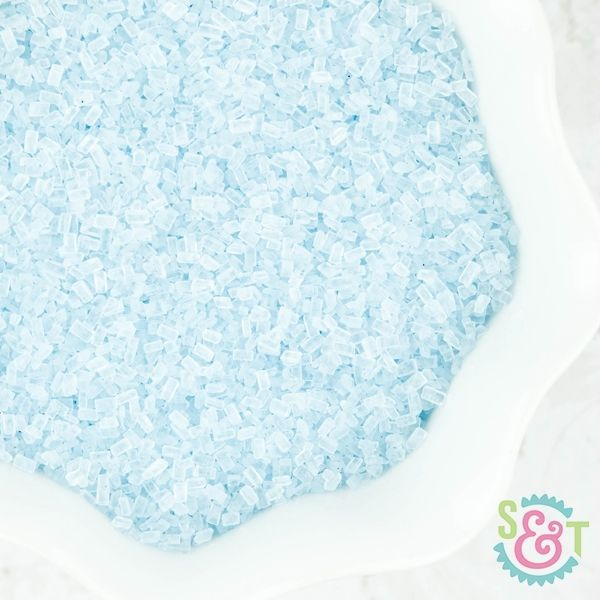 Chunky Sugar Crystals: Light Blue