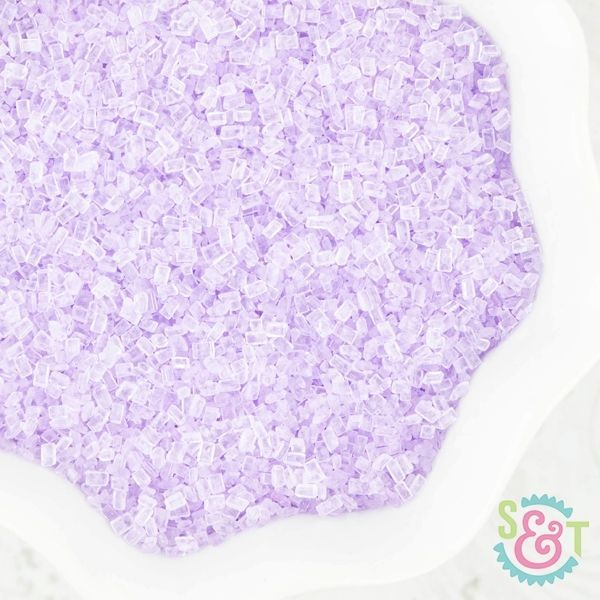 Chunky Sugar Crystals: Light Purple