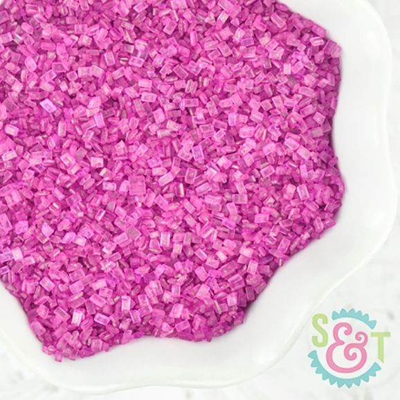 Chunky Sugar Crystals: Raspberry