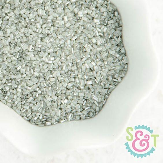 Chunky Sugar Crystals: Silver