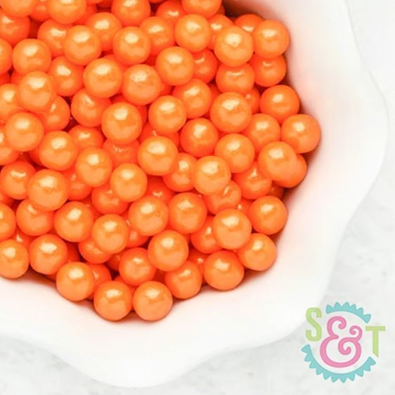 Sugar Pearl Sprinkles: Orange