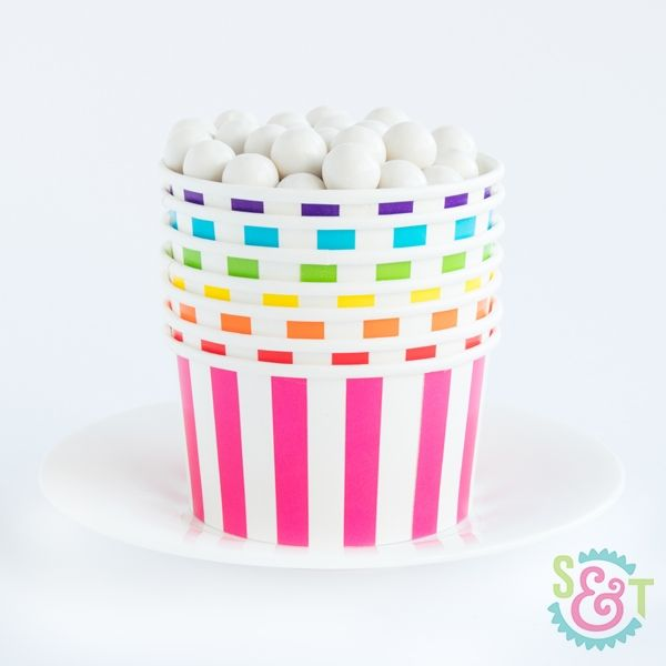 Treat Cups: Circus Stripe