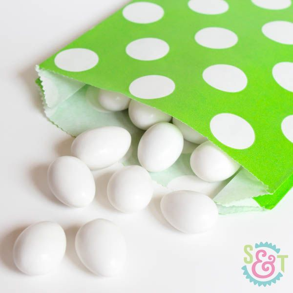 Dot Goodie Bags: Lime Green