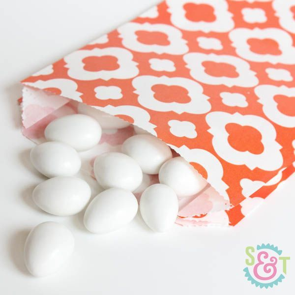 Quatrefoil Goodie Bags: Orange