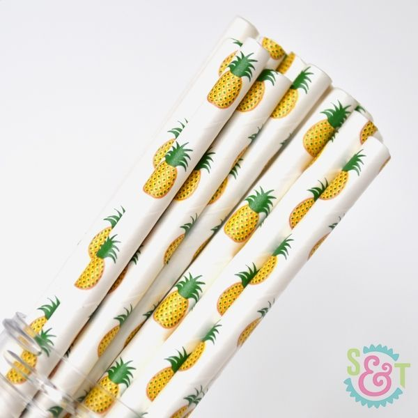 Fruit Paper Straws: Pineapple