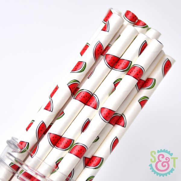 Fruit Paper Straws: Watermelon