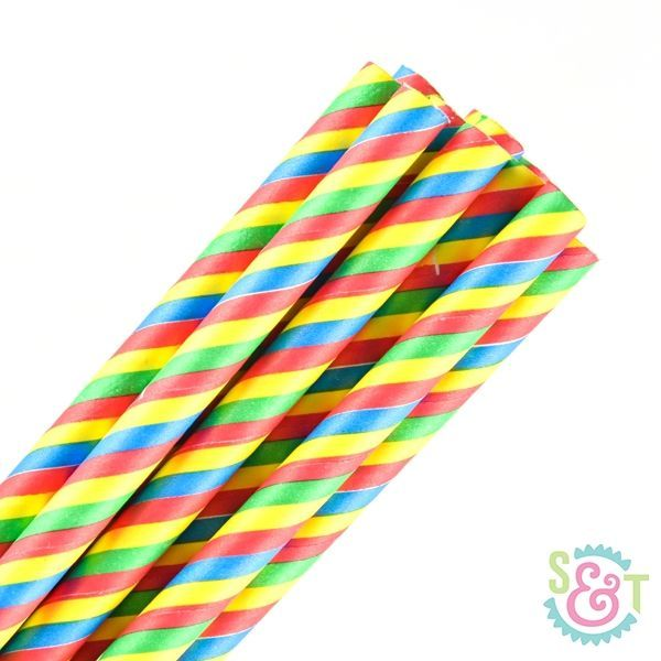 Primary Striped Paper Straws - Primary Paper Straws