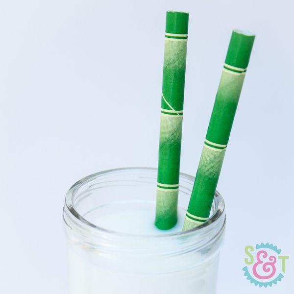 Bamboo Paper Straws - Bamboo Straws - Green Straws