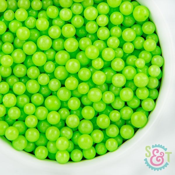 Midi Sugar Pearl Sprinkles: Lime Green