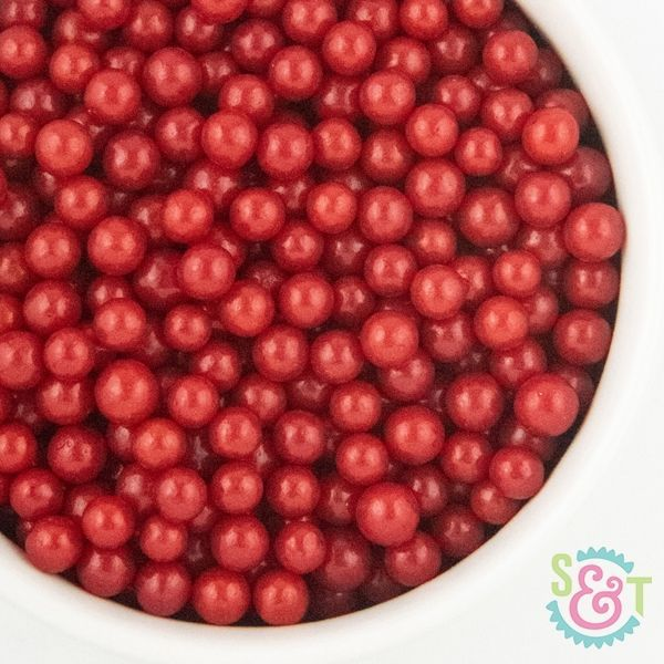 Midi Sugar Pearl Sprinkles: Red