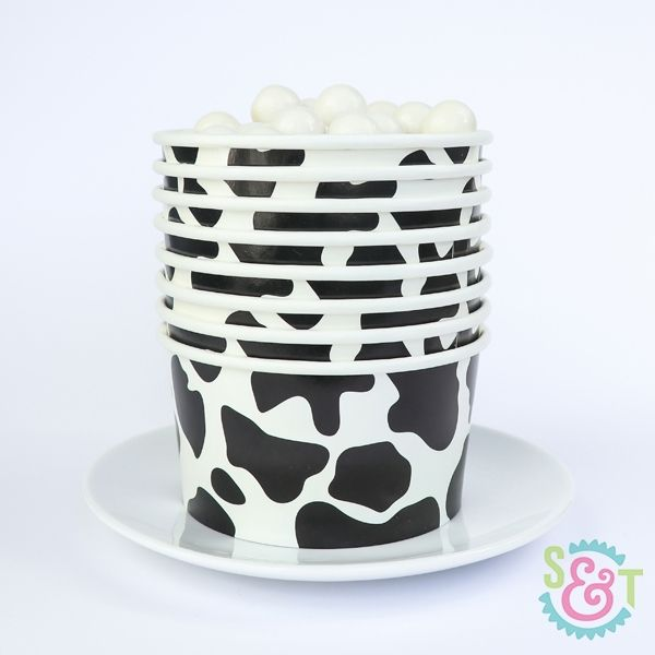 Treat Cups: Cow Print