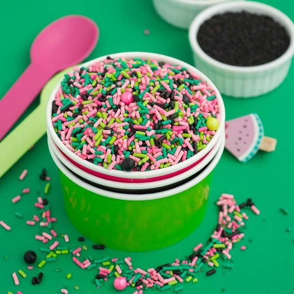 Solid Color Ice Cream Cups - Watermelon Party Supplies