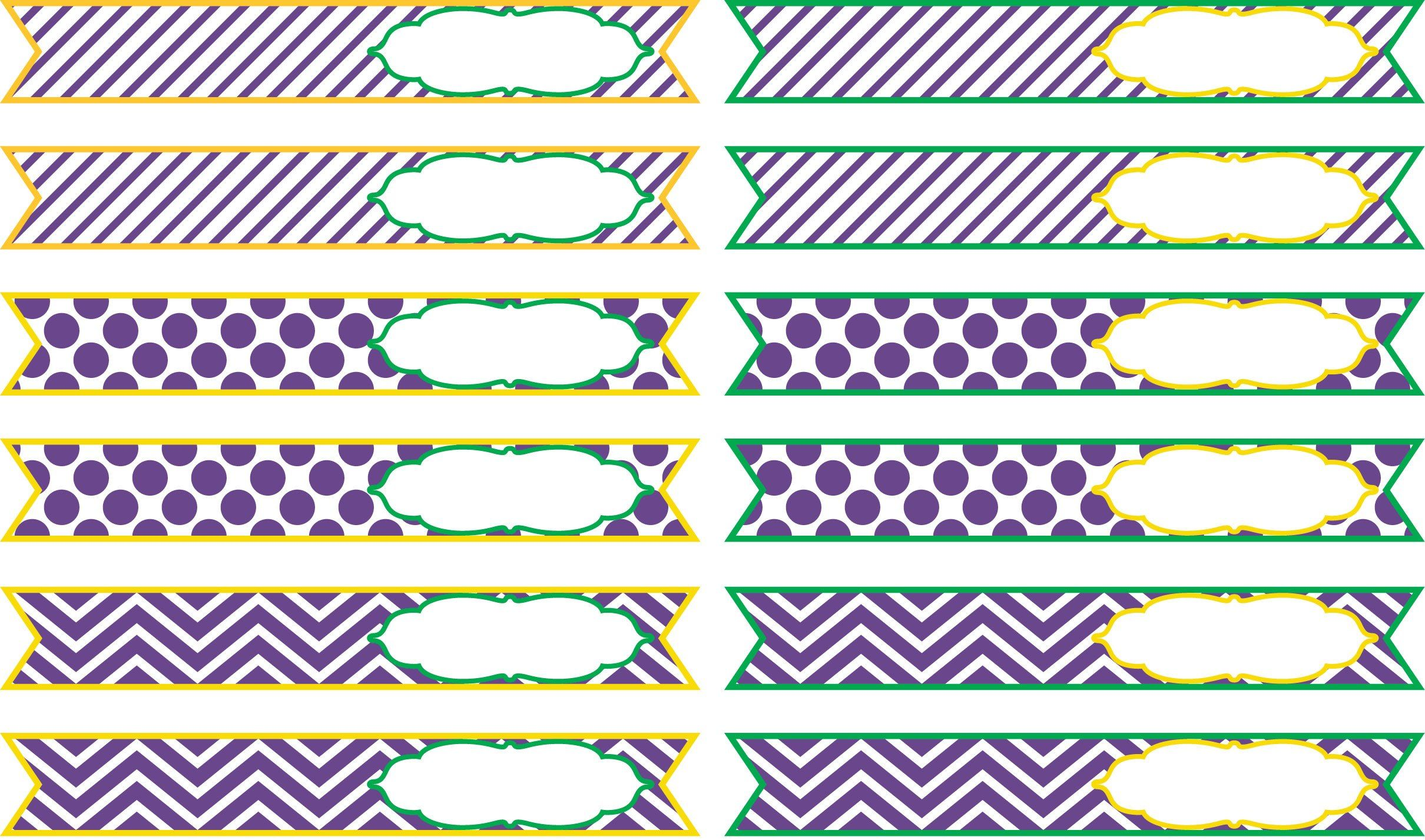 Sweets & Treats Boutique - Mardi Gras Straw Flags