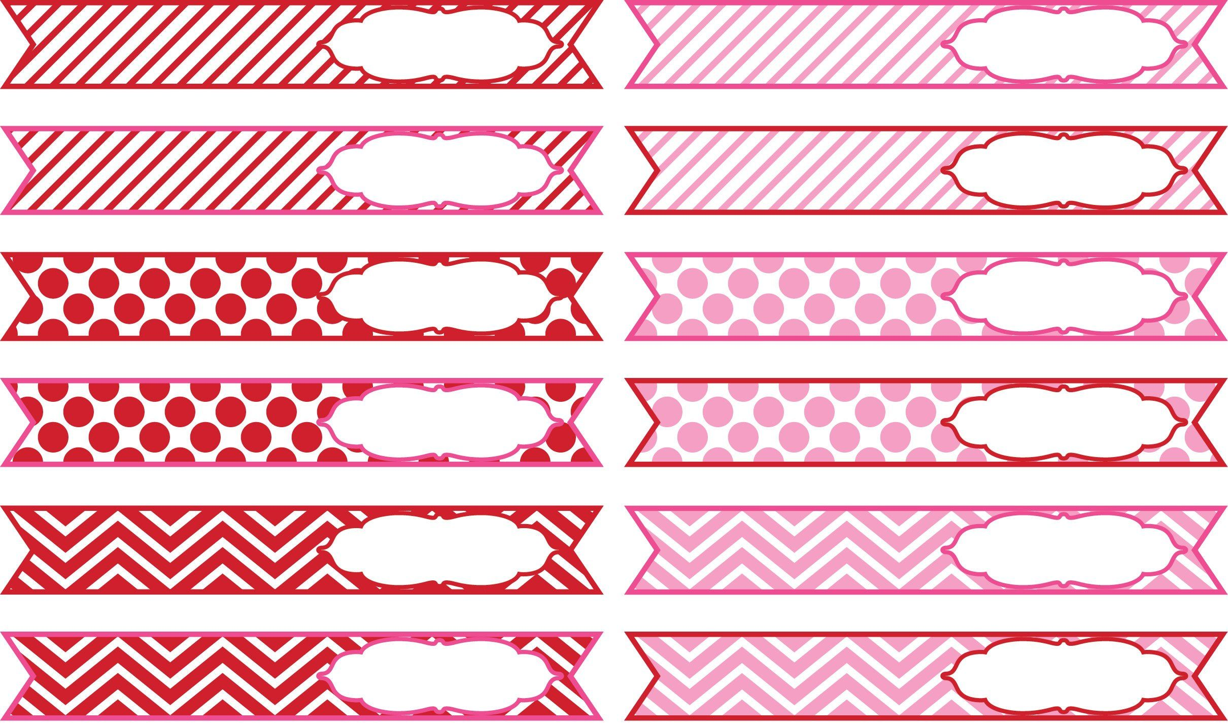 Sweets & Treats Boutique - Valentine Straw Flags